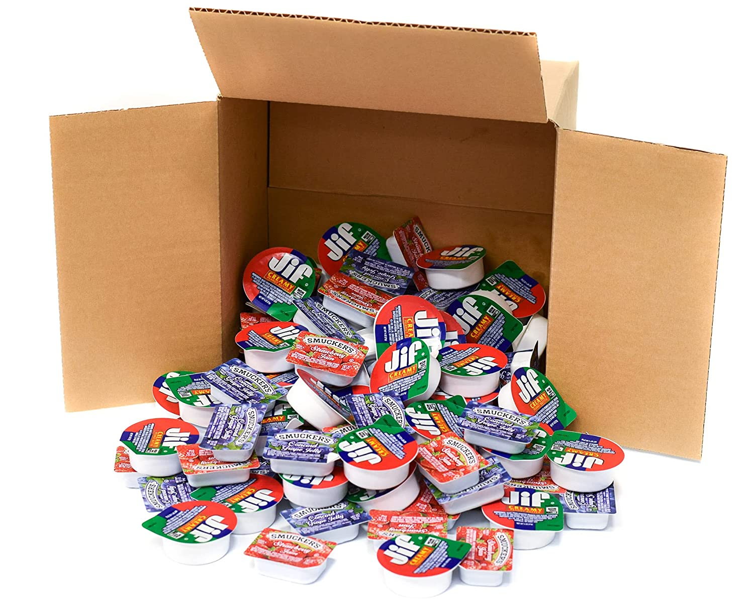100 Pieces -50 Chicago Mall Peanut Butter Packets service WITH each 25 and Strawberry