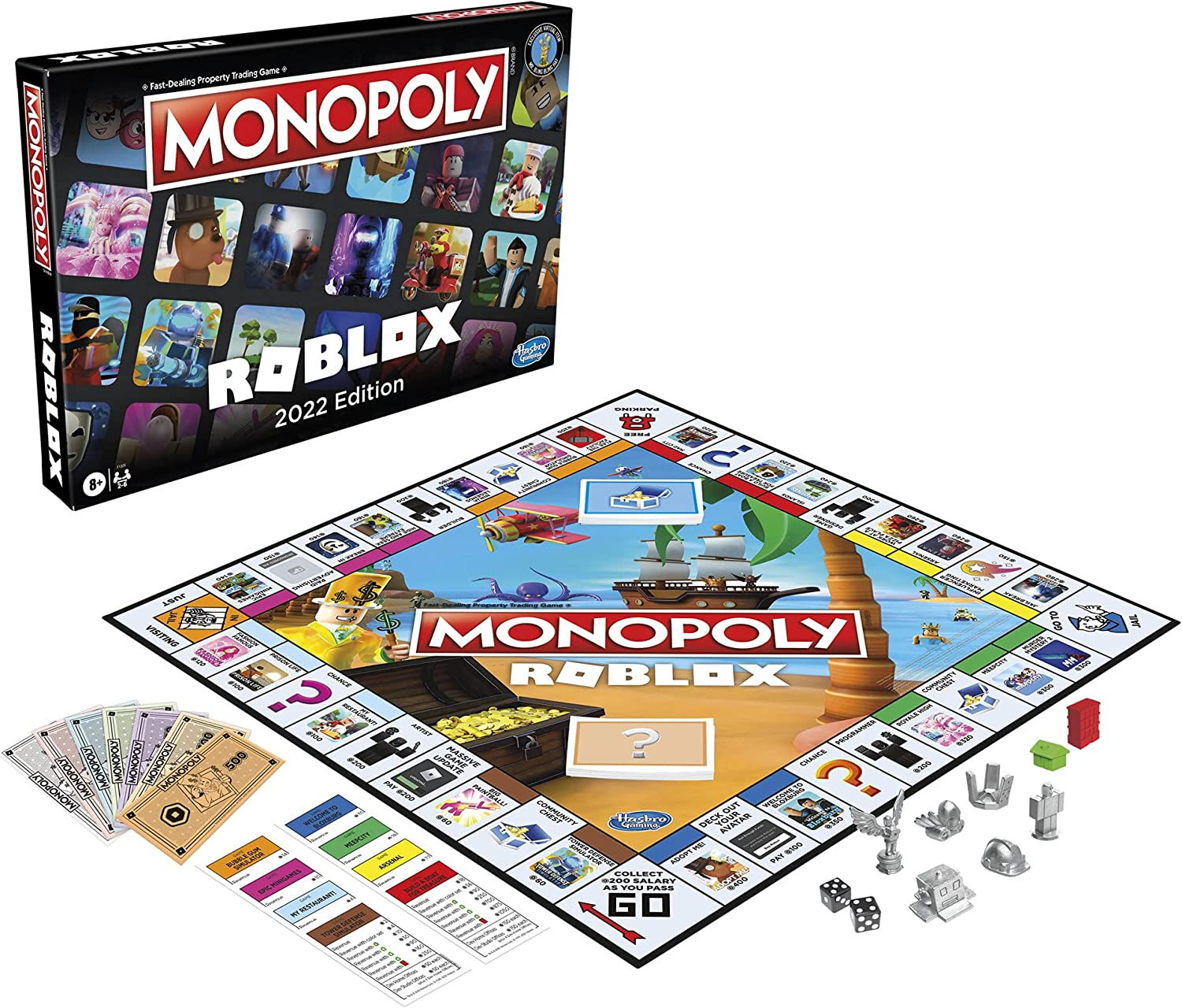 Hasbro Gaming Monopoly: Roblox 2022 Edition Game, Monopoly Board Game...