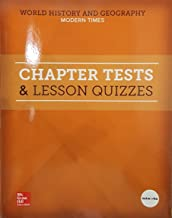 World History and Geography: Modern Times, Chapter Tests and Lesson Quizzes, 9780076768882, 0076768880, 2018