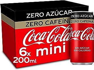 Coca-Cola Zero Azucar Zero cafeïne - Cola verfrissing zonder suiker, zonder calorieën, zonder cafeïne - verpakking met 6 m...