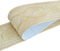 10 metros Vintage papel pintado borde impermeable extra/íble Peel and Stick autoadhesivo Cocina Ba/ño Pegatina de pared Border Sticker 1000cm Banggo 4.1x393.7//10.6