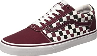 Ward Lace-Up Checkerboard Red/Black