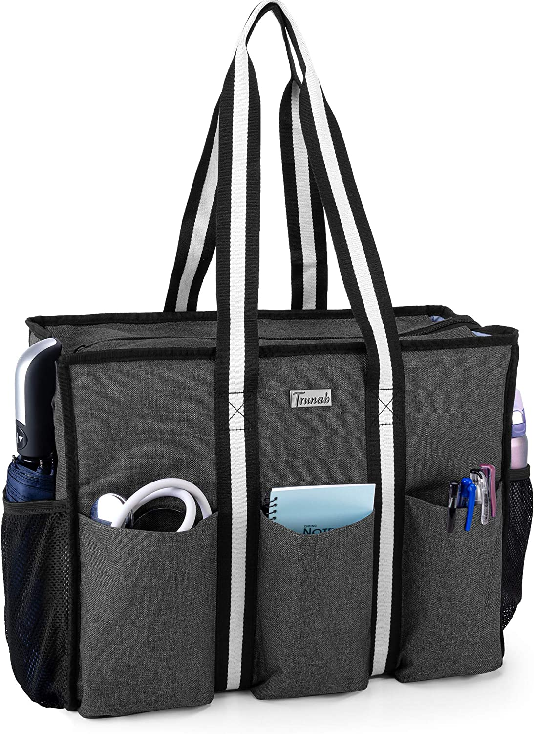 Trunab Nurse Bag and Tote for Work with Padded Laptop Sleeve, Nursing Bag with Multiple Pockets for Home Health