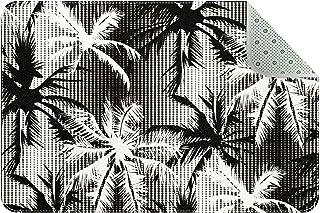 Doormat Custom Indoor Welcome Door Mat, Black and White Coconut Palm Home Decorative Entry Rug Garden/Kitchen/Bedroom Mat ...