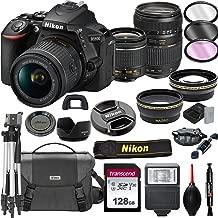 Nikon D5600 DSLR Camera with 18-55mm VR + Tamron 70-300mm + 128GB Card, Tripod, Flash, and More (20pc Bundle)