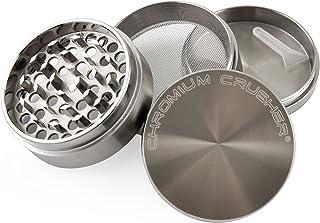 """Chromium Crusher Zinc 4 Piece Gunmetal – Herb & Spice Mill/Grinder (2.5"""")"""