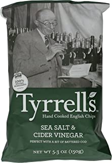 Tyrrell's Crisps, Sea Salt and Cider Vinegar, 5.3 Ounce