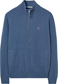 GANT Men's Superfine Lambswool Zip Cardiga Cardigan Sweater