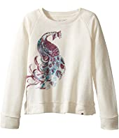 Lucky Brand Kids - Pullover Crew Neck Shirt with Peacock Design (Little Kids)