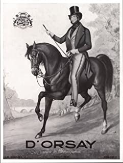 1936 Ad Print Alfred d'Orsay Riding Horse Inventor of Milord Le Dandy Trophee Perfumes - Original Magazine Ad