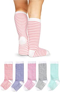 LA Active Knee High Grip Socks - 5 Pairs - Baby Toddler Non Slip/Skid Cotton