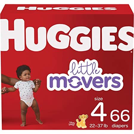 Baby Diapers Size 4, 66 Ct, Huggies Little Movers