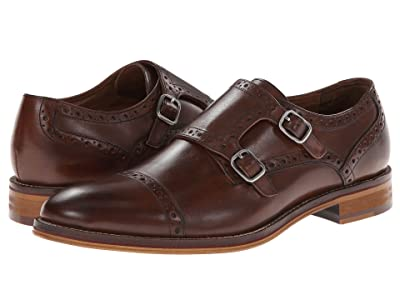 Johnston & Murphy Conard Casual Dress Double Monk Strap (Mahogany Italian Calfskin) Men