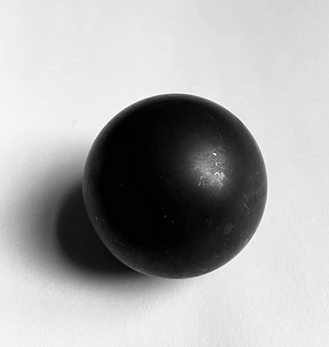 """Shungite Sphere Unpolished 30mm//1.18/"""" made of 100/% Natural Rare Stone Tolvu"""