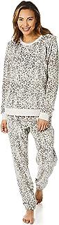 Light & Shade Pretty Woman Womens Supersoft Coral Fleece Twosie Animal Print Pyjamas Set Comfy Warm Soft Loungewear, Grey,...