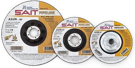 United Abrasives-SAIT 22052 Type 27 7-Inch x 1/8-Inch x 5/8-11 General Purpose Depressed Center Pipeline Wheels, 25-Pack