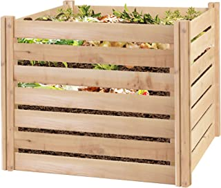 small wooden composter