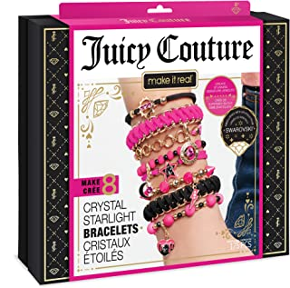 Make It Real – Juicy Couture Crystal Starlight Bracelets - DIY Charm Bracelet Kit for Teen Girls - Jewelry Making Supplies...