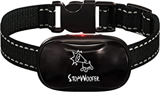 Best STOPWOOFER No Shock Bark Collar for Dogs - No Bark Collar for Small Medium and Large Dogs - Barking Control Device - w/2 Vibration & Beep Modes - No Dog Control - Dog Training Automatic Review