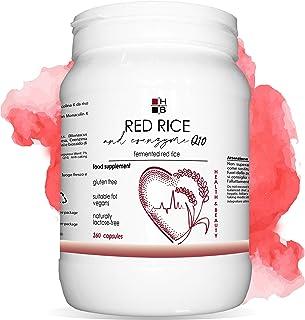 RISO ROSSO e COENZIMA Q10 HB   360 capsule   riso rosso fermentato   con VITAMINA Q   Prodotto Italiano