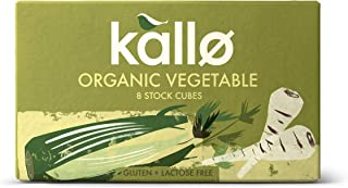 Kallo Organic Vegetable 8 Stock Cubes (Pack of 12)