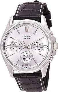 ساعة يد رجالي من كاسيو ، انالوج بعقارب ، جلد ، اسود ، MTP-1375L-7AV