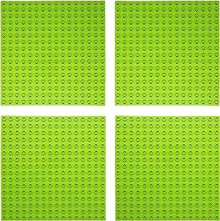 EKIND 基礎板 ブロック プレート デュプロと互換性 ベースプレート レンガのおもちゃ ブロックプレート 4枚セット ダークグリーン