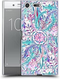 オフィシャル Micklyn Le Feuvre バースト・イン・ピンク&ティール フローラル Sony Xperia XZ Premium 専用ソフトジェルケース