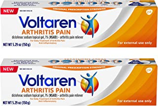 Voltaren Topical Arthritis Pain Relief Gel - 5.29 Ounce Tube (Pack of 2), 5.29 Ounce