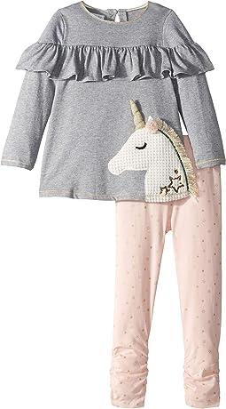 Unicorn Ruffle Tunic and Leggings Two-Piece Set (Infant/Toddler)
