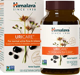 Himalaya UriCare/Cystone, Caffeine-Free, Kidney and Urinary Tract Support 840 mg, 120 Capsules, 1 Month Supply