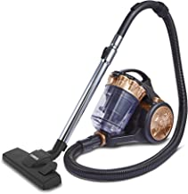 Tower Cylinder Vacuum Cleaner [RXP10] HEPA Filter - 2 Litre Capacity, Combination Floor Head, Crevice Tool - Rose Gold