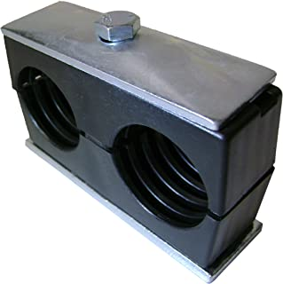 Behringer Twin Series Pipe Clamp, Polypropylene with Zinc-Plated Steel Hardware, Weld Mounting, 3/4