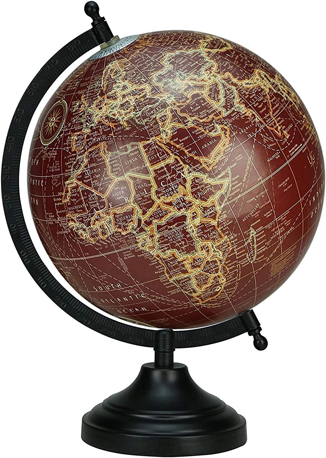 redating Desktop Globe Brown color Globe Table Decor Ocean Geographical Earth by Globes HubPerfect for Home, Office & Classroom