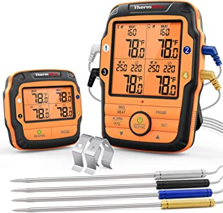 ThermoPro TP27 500FT Long Range Wireless Meat Thermometer for Grilling and Smoking with 4 Probes Smoker BBQ Grill Thermome...