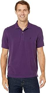 Nautica Short Sleeve Solid Deck Shirt BlackBerry XL
