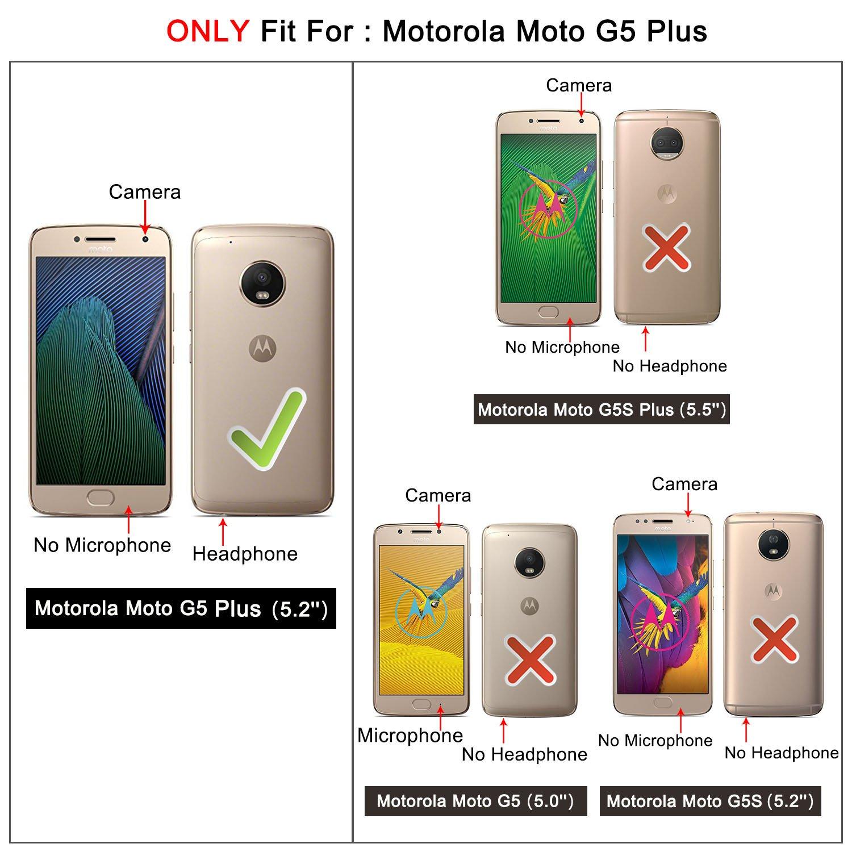 Moto G5 Plus Funda, HOOMIL Premium Funda de Piel para Motorola G5 Plus/Moto G Plus (5ª generación) Funda Protectora de teléfono: Amazon.es: Electrónica