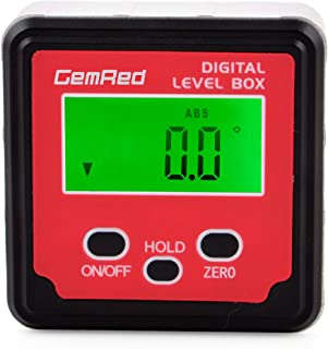 GemRed Digital Level Box Protractor Angle Finder Level Gauge Bevel Gage Inclinometer with..