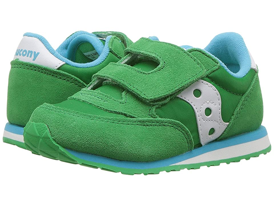 Saucony Kids Jazz Hook Loop (Toddler/Little Kid) (Green/White) Kids Shoes