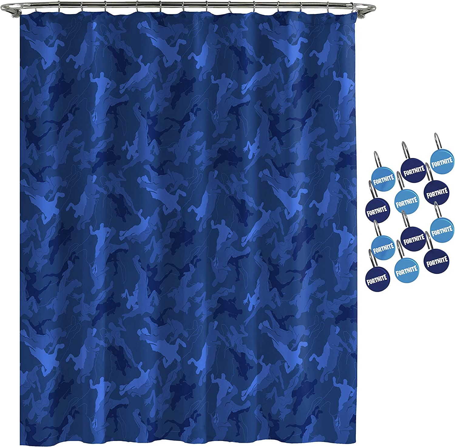 Jay Complete High quality new Free Shipping Franco Fortnite Emote Camo 12-Piece Hook Se Curtain Shower