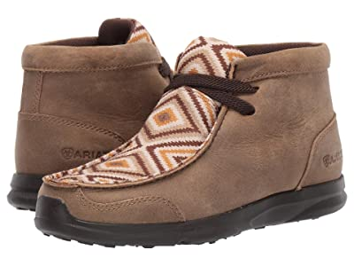 Ariat Kids Spitfire (Toddler/Little Kid/Big Kid) (Brown Bomber/Tan Aztec) Kids Shoes