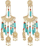 Steve Madden - Green Dangling Beaded Chandelier Post Earrings