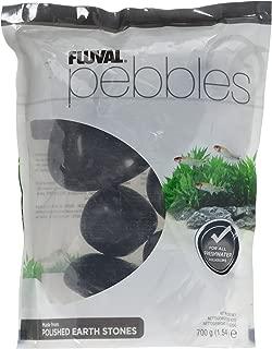 Fluval Polished Black Agate Stone for Aquarium, 1.5-Pound