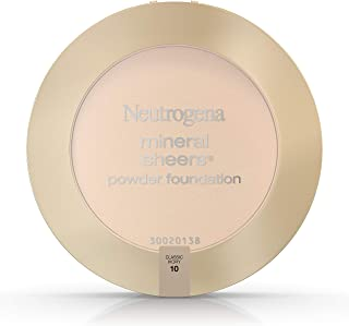 Neutrogena Mineral Sheers Compact Powder Foundation Spf 20, Classic Ivory 10,.34 Oz. (Pack of 2)
