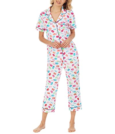 BedHead Pajamas Short Sleeve Cropped PJ Set (Cotton Spandex)