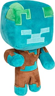 JINX Minecraft Happy Explorer Drowned Plush Stuffed Toy, Multi-Colored, 7