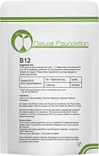 Vitamina B12 tabletas 1000 mcg suplemento pérdida