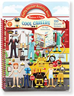 Melissa & Doug Puffy Sticker Play Set: Cool Careers Activity Book - 101 Reusable Stickers