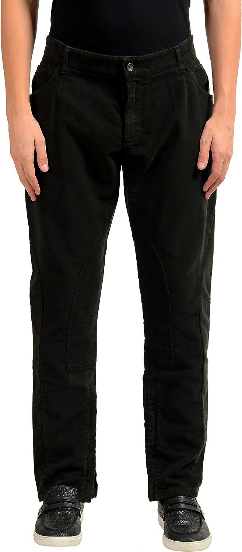 Dolce & Gabbana Men's Brown Zip Up Casual Pants US 34 IT 50