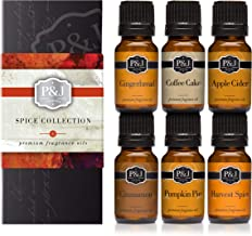 P&J Trading Spice Set of 6 Premium Grade Fragrance Oils – Cinnamon, Harvest..